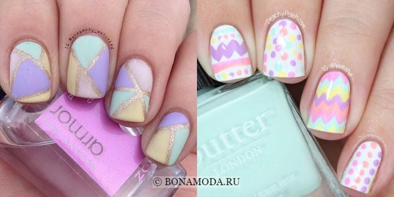 Модный маникюр 2018: тенденции - ногти в нежных пастельных тонах