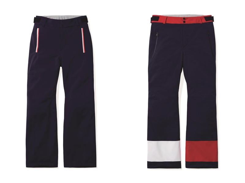 Мужская лыжная капсульная коллекция Tommy Hilfiger и Rossignol - тёмно-синие штаны