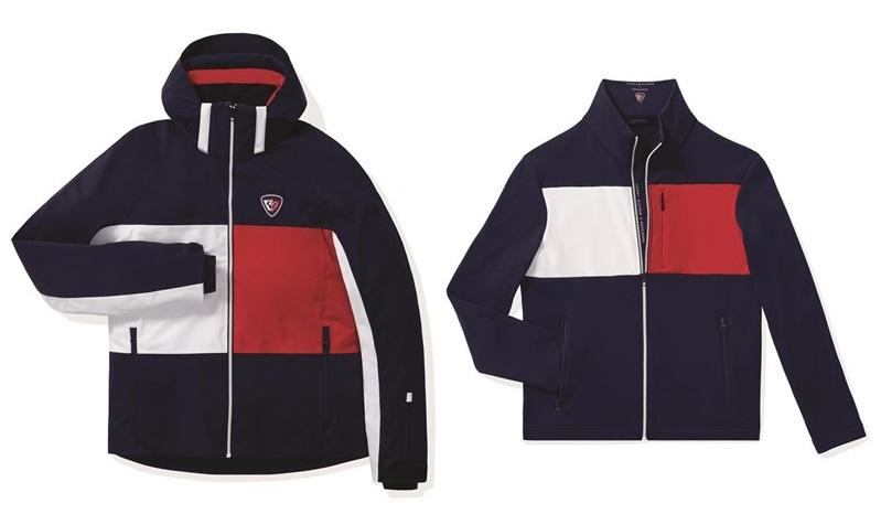Мужская лыжная капсульная коллекция Tommy Hilfiger и Rossignol - тёмно-синие куртки с капюшоном