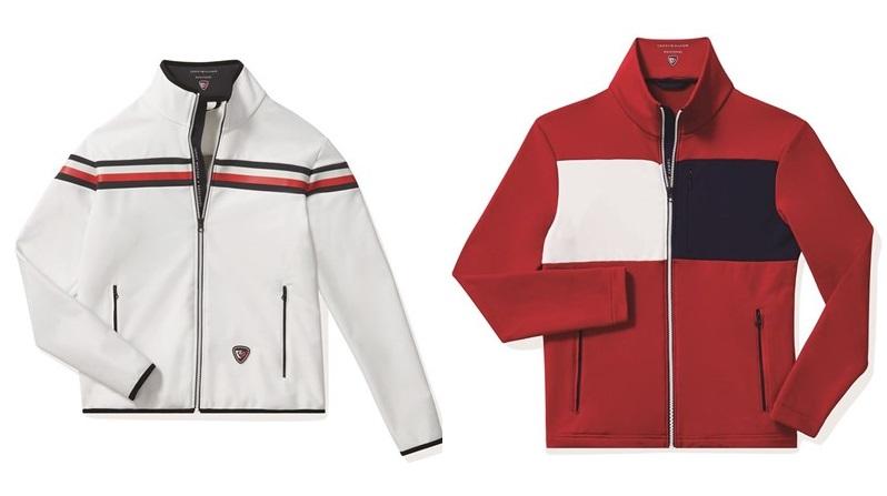 Мужская лыжная капсульная коллекция Tommy Hilfiger и Rossignol - белая и красная куртки