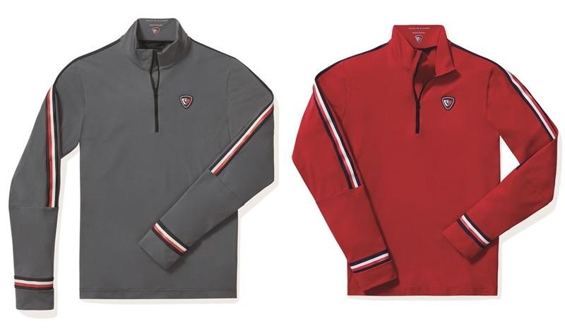 Мужская лыжная капсульная коллекция Tommy Hilfiger и Rossignol - спортивные кофты серого и красного цвета