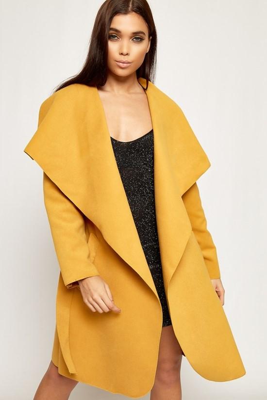 Горчичное пальто оверсайз WearAll