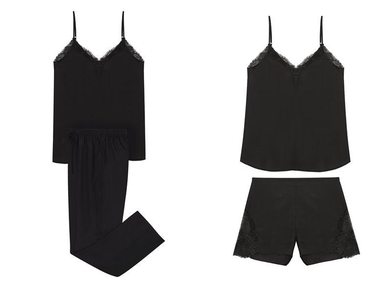 Коллекция нижнего белья Women'secret 2018 - черные пижамы