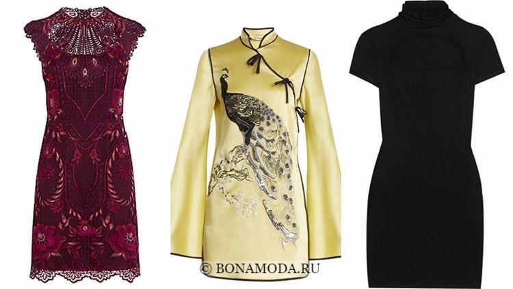 Модные коктейльные платья 2018 - этнические в китайском стиле
