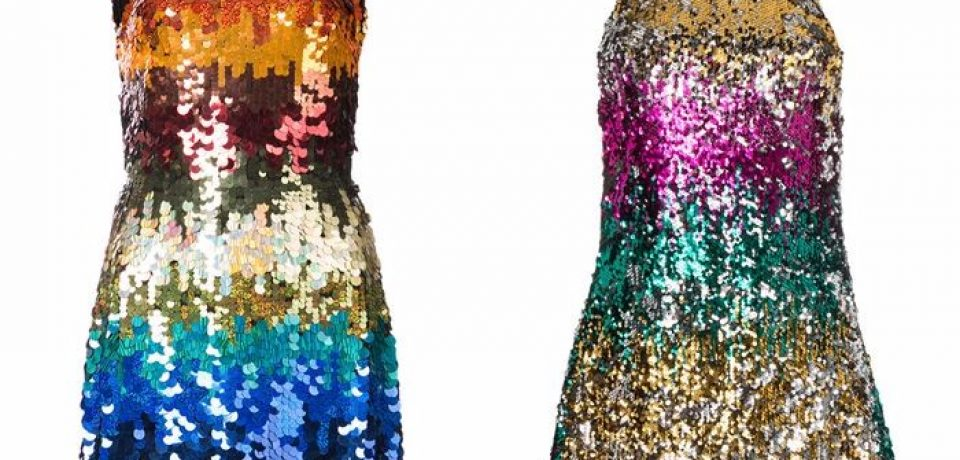 Блестящие платья со сверкающими пайетками 2018
