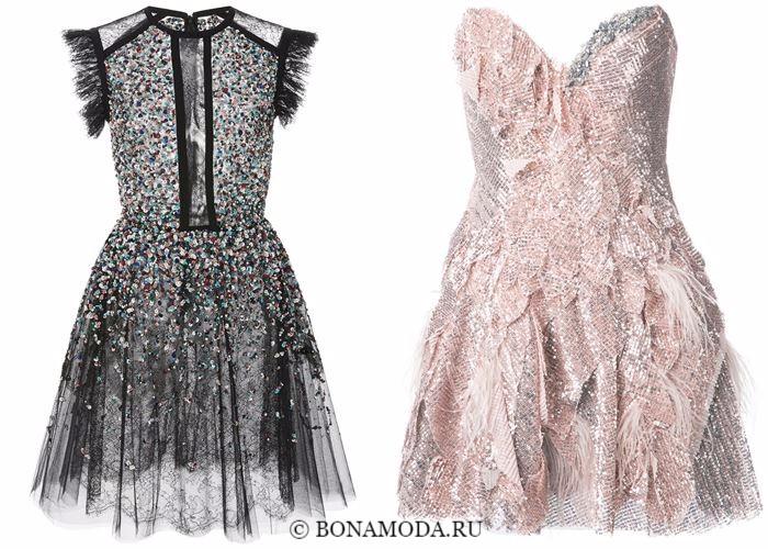e805ec1dbab ... Блестящие платья со сверкающими пайетками 2018 - короткие приталенные в  стиле бэбидолл