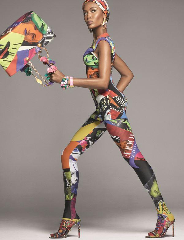 Рекламная кампания Versace весна-лето 2018 - Наоми Кэмпбелл