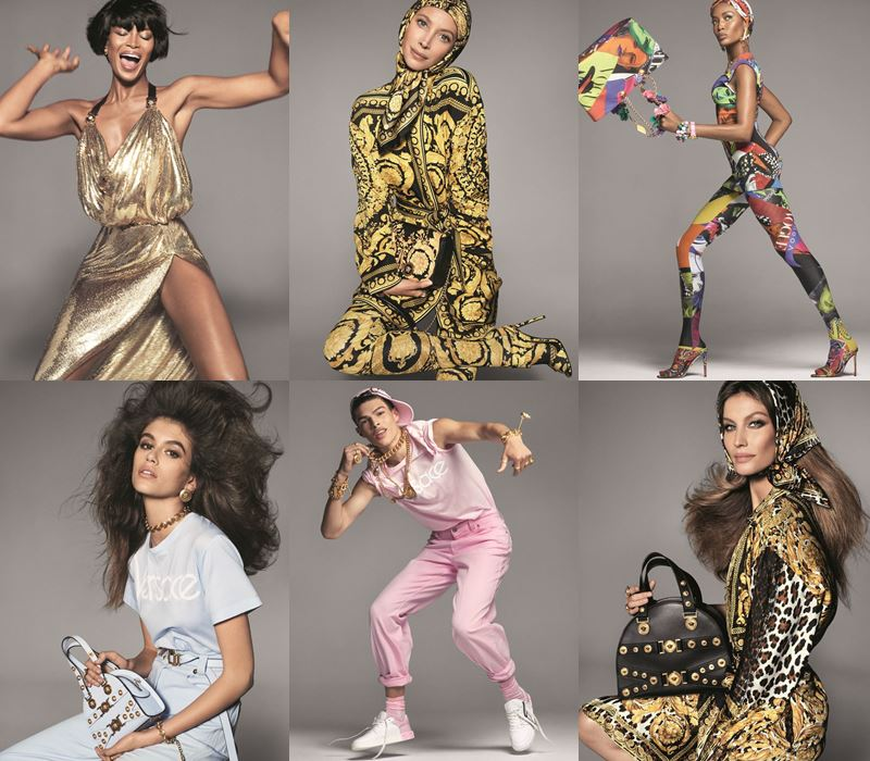Рекламная кампания Versace весна-лето 2018 - супермодели
