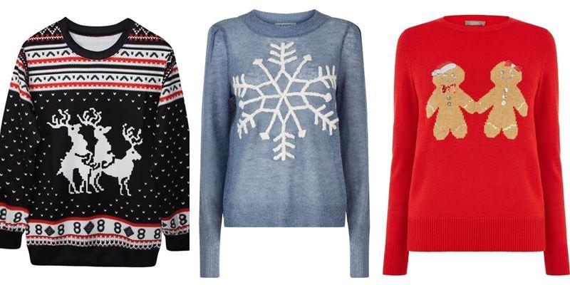 18 зимних и новогодних свитеров с принтами