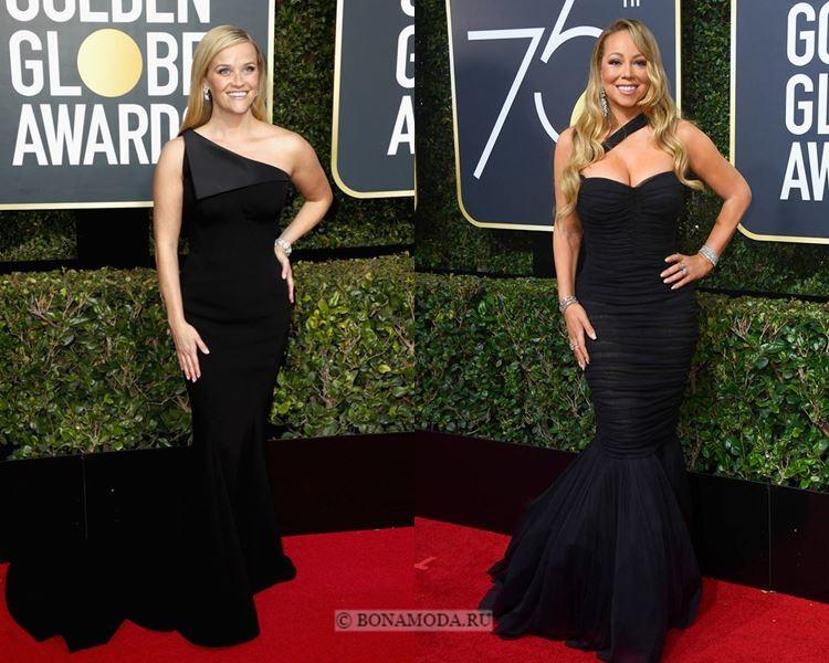 Чёрные вечерние платья-2018 «Золотой глобус»: облегающие наряды «русалка»