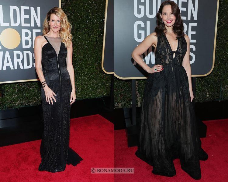 Чёрные вечерние платья-2018 «Золотой глобус»: греческий стиль лиф халтер