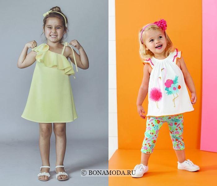Детская мода для девочек весна-лето 2018 - Удобные короткие платья-трапеция