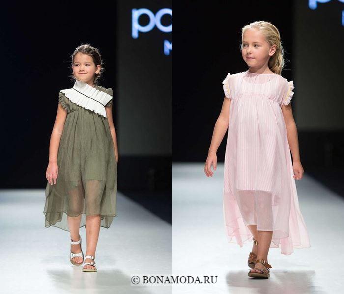 Детская мода для девочек весна-лето 2018 - летние платья из тюля
