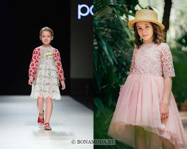 Детская мода для девочек весна-лето 2018 - Модные кружевные платья