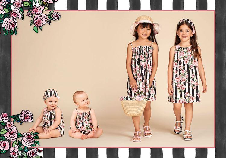 Детская мода для девочек весна-лето 2018 - летние сарафаны в полоску
