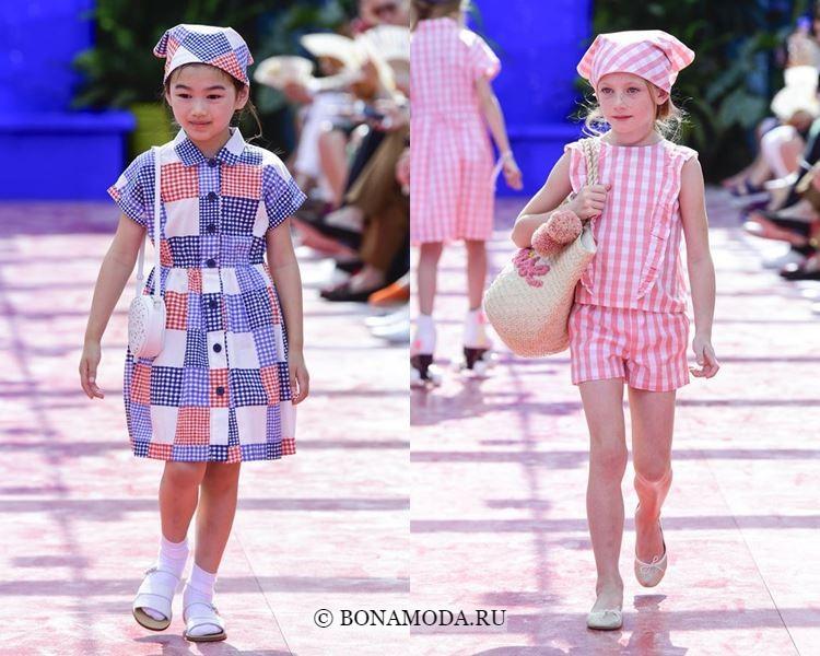 Детская мода для девочек весна-лето 2018 - Повседневная летняя одежда в клетку