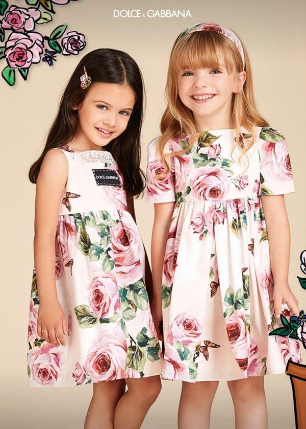 Детская мода для девочек весна-лето 2018 - стильные цветочные платья с розами