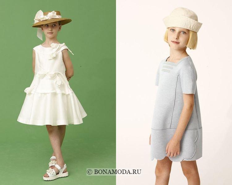 Детская мода для девочек весна-лето 2018 - модные короткие платья-трапеция