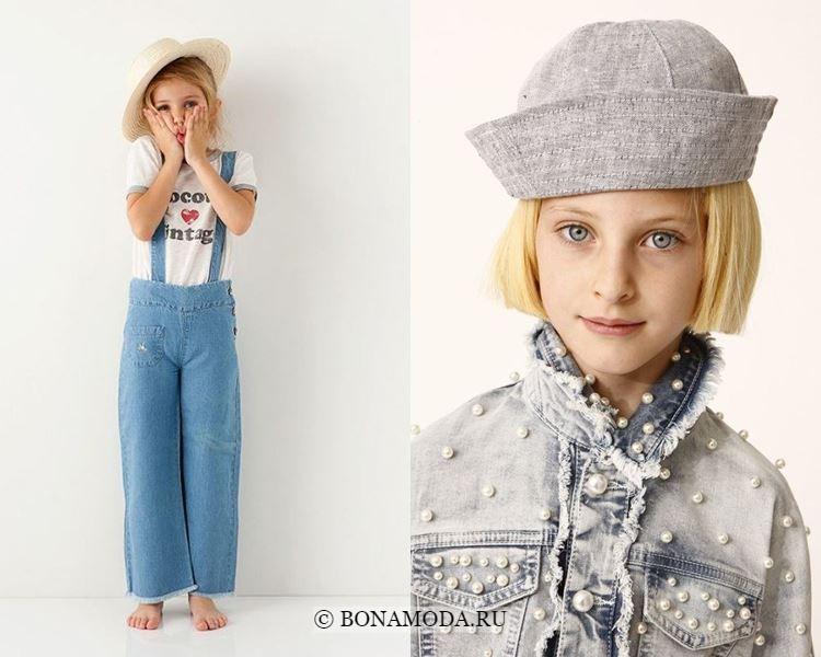 Детская мода для девочек весна-лето 2018 - Модная джинсовая детская одежда из денима