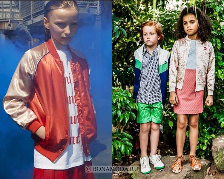 Детская мода для девочек весна-лето 2018 - Куртки-бомберы
