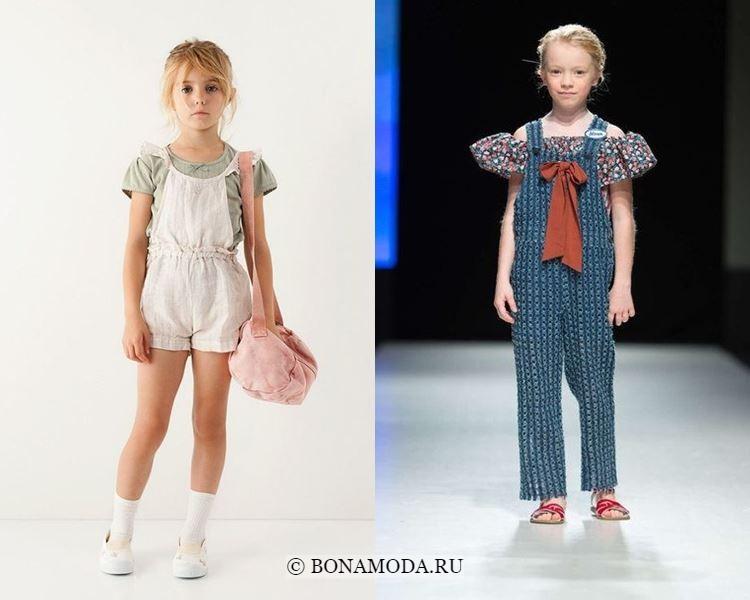 Детская мода для девочек весна-лето 2018 - комбинезоны на блузку