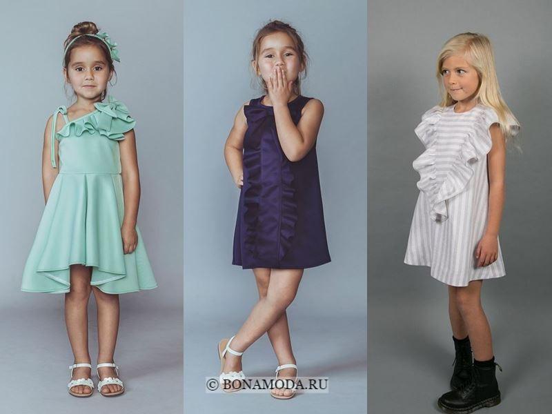 Детская мода для девочек весна-лето 2018 - платья с оборками и воланами для маленьких