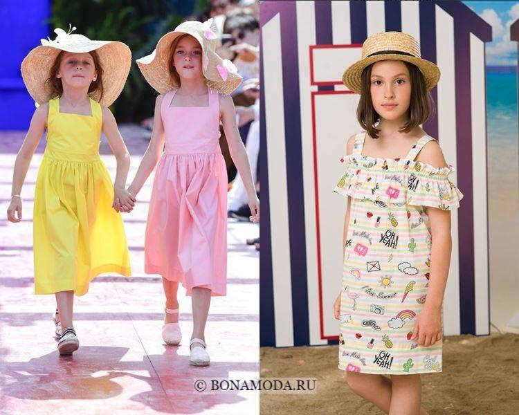 Детская мода для девочек весна-лето 2018 - летние сарафаны