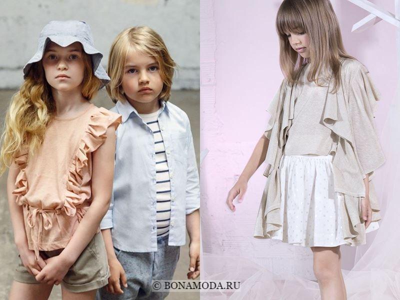 Детская мода для девочек весна-лето 2018 - Стильные блузки с воланами