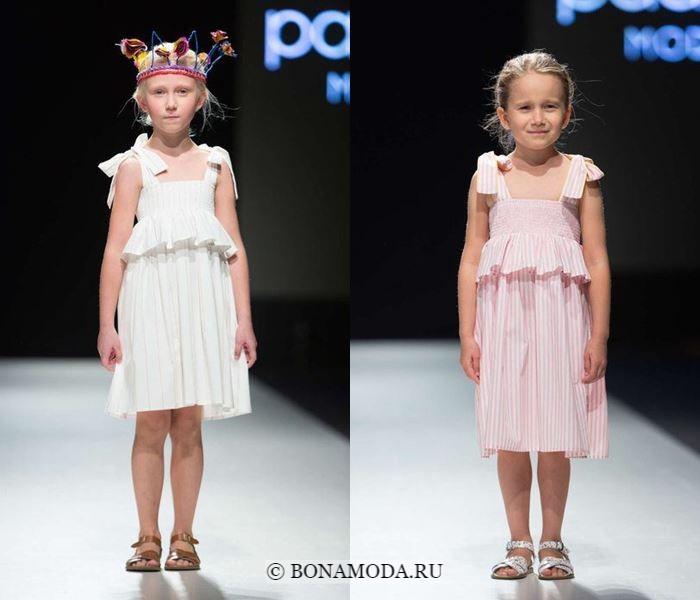 Детская мода для девочек весна-лето 2018 - сарафаны с баской