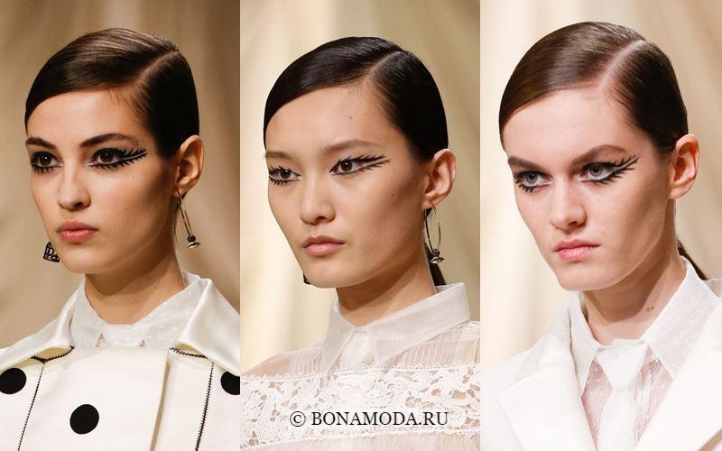 Гладкий низкий хвост на показе Dior Couture весна-лето 2018