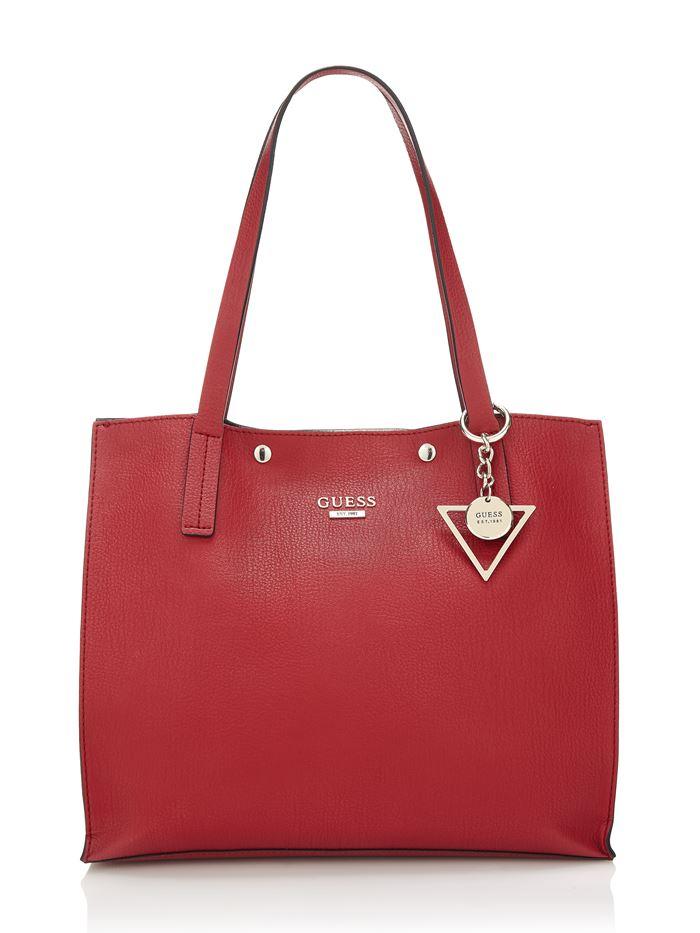 Коллекция сумок Guess весна-лето 2018 - красная кожаная сумка шоппер