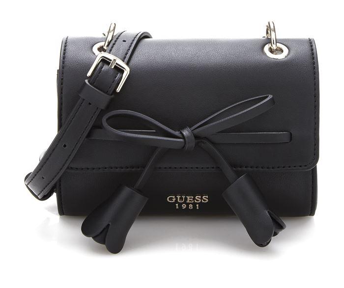Коллекция сумок Guess весна-лето 2018 - чёрная маленькая сумка через плечо с ремешком