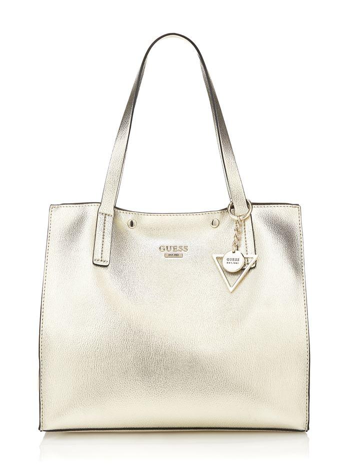 Коллекция сумок Guess весна-лето 2018 - глазкая золотая сумка шоппер