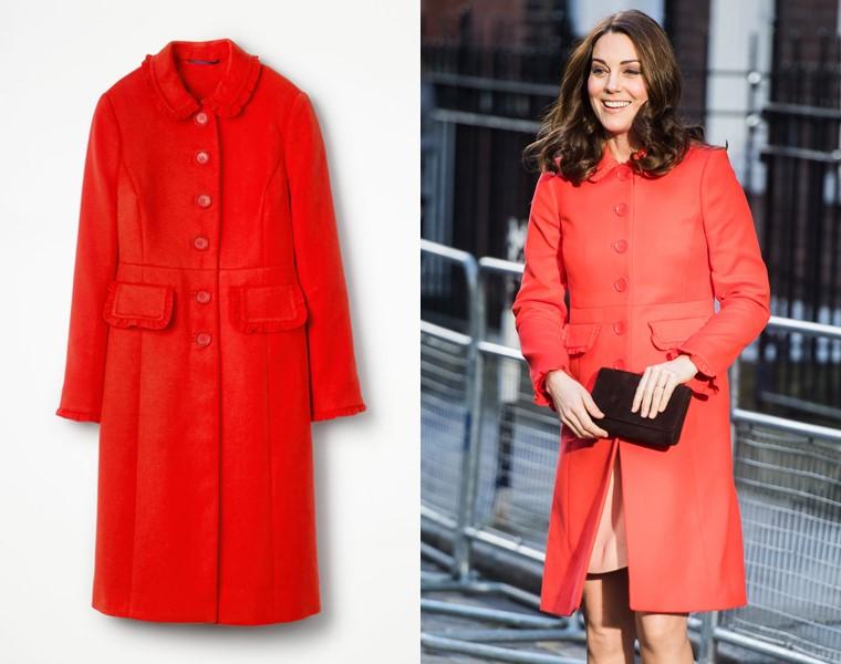 Красные пальто 2018 - Кейт Миддлтон в Boden