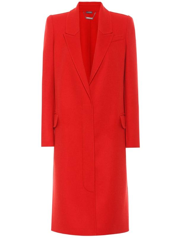 Красные пальто 2018 - Минималистичное кашемировое пальто Alexander McQueen