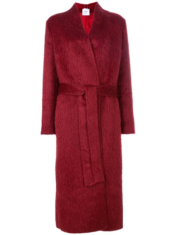 Красные пальто 2018 - Пальто-кардиган с запахом Agnona