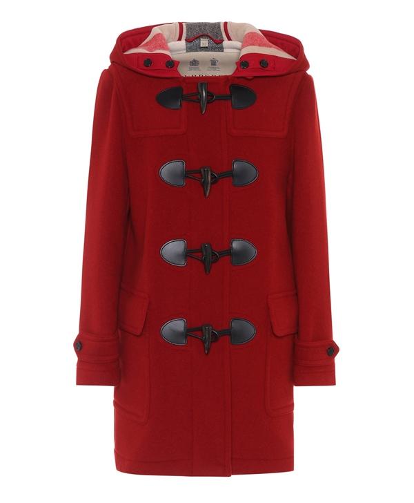 Красные пальто 2018 - Короткое пальто даффл-кот с капюшоном Burberry