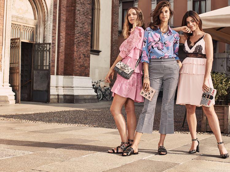 Рекламная кампания Liu Jo весна-лето 2018 - летний городской стиль с платьями, юбками и брюками