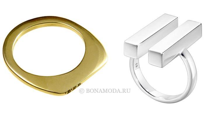 Модные женские кольца 2018 - простые гладкие кольца в стиле минимализм