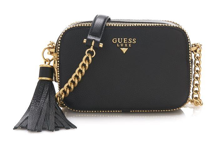 Сумки Guess Luxe весна-лето 2018 - чёрная поясная сумка на цепочке