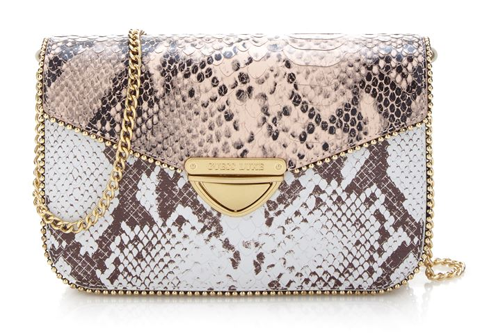 Сумки Guess Luxe весна-лето 2018 - сумка через плечо из змеиной кожи на ручке-цепочке