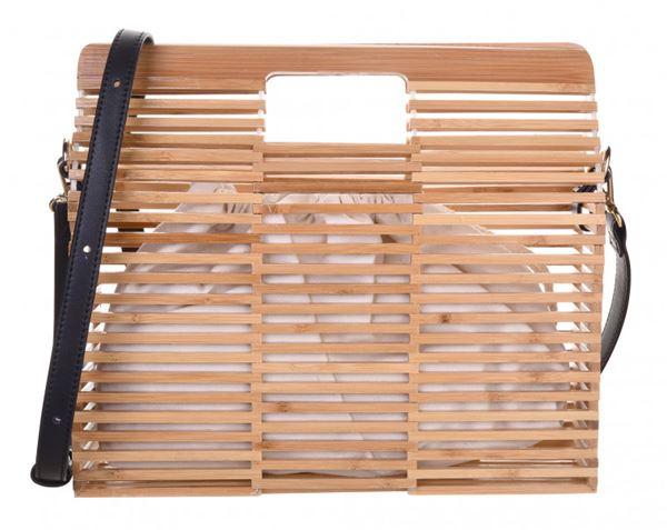 Сумки Topshop весна-лето 2018 - Деревянная пляжная сумка с длиной ручкой