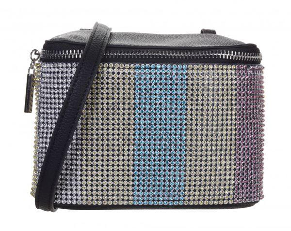 Сумки Topshop весна-лето 2018 - Разноцветная блестящая сумка с кристаллами на длиной ручке и молнии