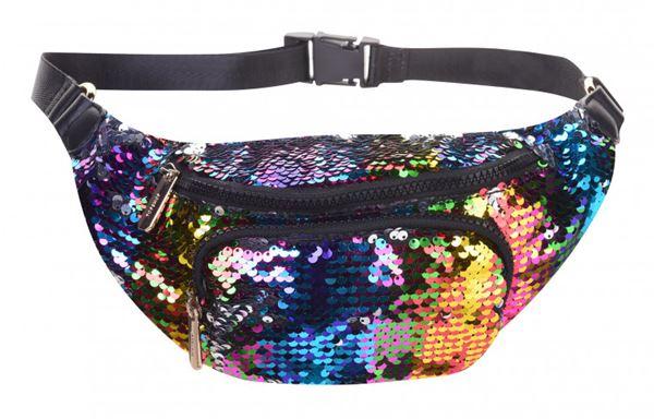 Сумки Topshop весна-лето 2018 - Яркая разноцветная поясная сумка с пайетками