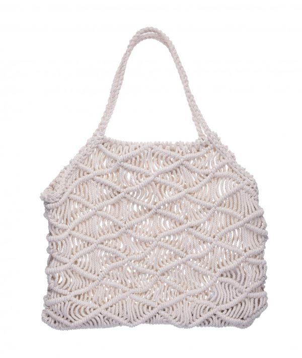 Сумки Topshop весна-лето 2018 - Белая сумка с плетением в стиле макраме