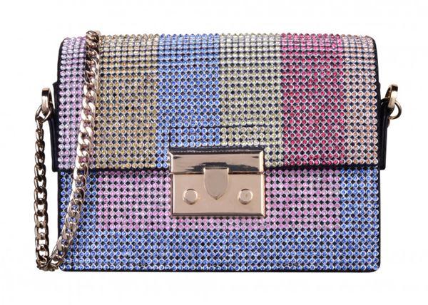 Сумки Topshop весна-лето 2018 - разноцветная блестящая сумка на ручке-цепочке