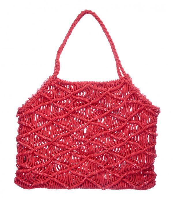 Сумки Topshop весна-лето 2018 - Красная сумка с плетением в стиле макраме