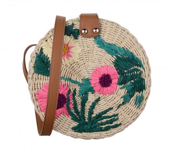 Сумки Topshop весна-лето 2018 - Круглая плетеная сумка с вышивкой