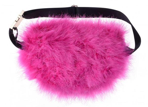 Сумки Topshop весна-лето 2018 - Ярко-розовая меховая сумка на пояс