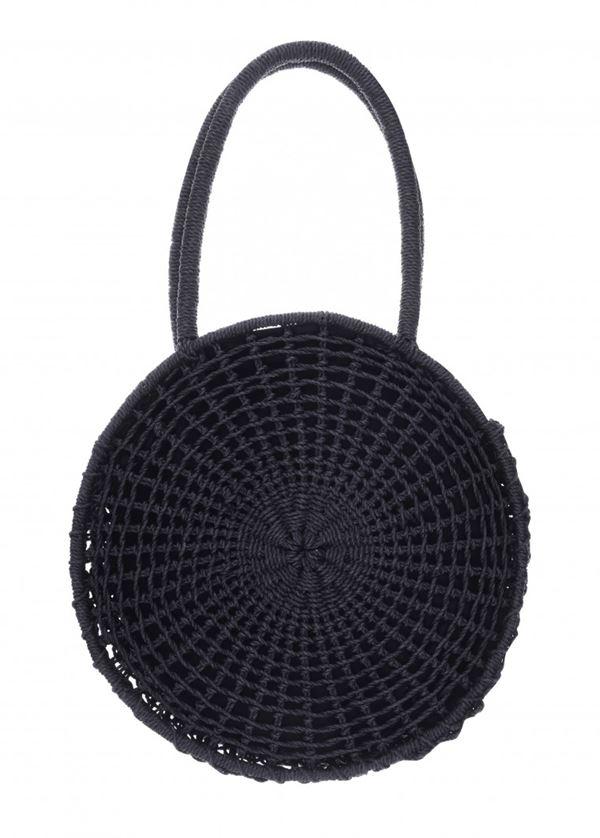 Сумки Topshop весна-лето 2018 - Чёрная плетёная круглая сумка